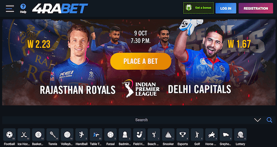 IPL Betting at 4raBet