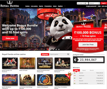 Royal Panda Indias Homepage