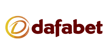 Dafabet logo in dark red