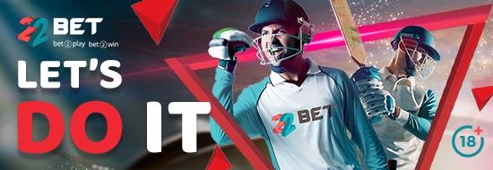 Cricket Betting at 22Bet