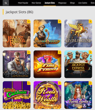Jackpot slots available at 10 Cric