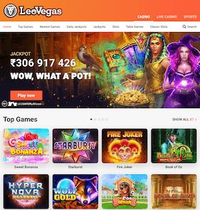 LeoVegas India Casino Selection