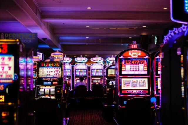 Slot Machines in a Purple Casino Environment