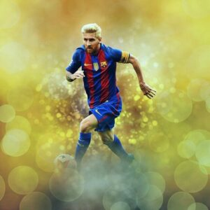 Lionel Messi on a Unclear Background