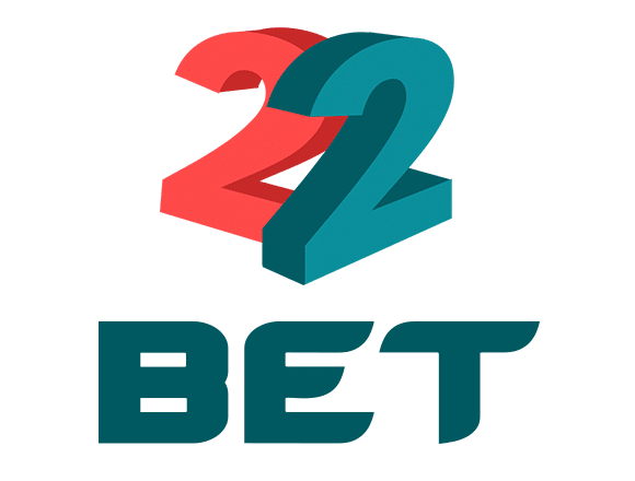 22 bet red and blue logo