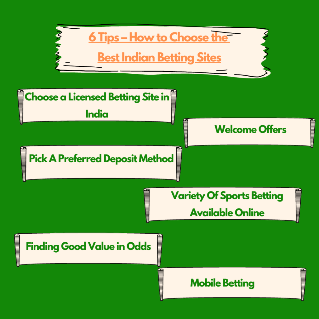 6 Tips; How to Choose the Best Indian Betting Sites