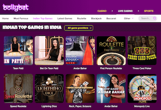 Most popular casino games at Bollybet